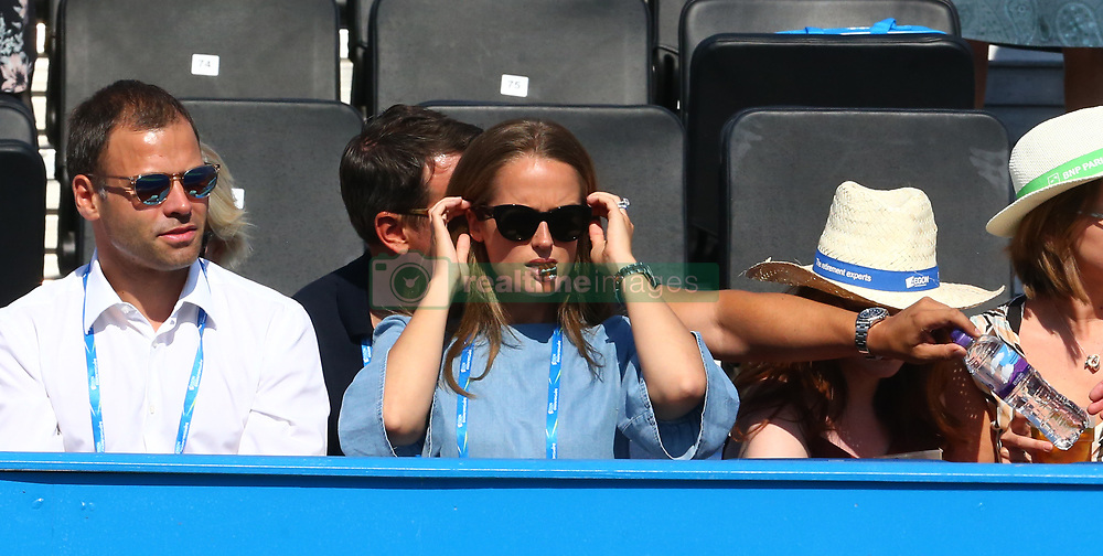 June 20, 2017 - London, United Kingdom - Kim Murray watching her Husband Andy Murray GBR  during Round One match on the second day of the ATP Aegon Championships at the Queen's Club in west London on June 20, 2017  (Credit Image: © Kieran Galvin/NurPhoto via ZUMA Press)