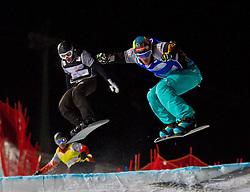 07.12.2010,AUT, Schlegelkopf, Lech am Arlberg, LG Snowboard, FIS Worldcup SBX, im Bild Speiser David, GER und Ligocki Mateusz, POL, EXPA Pictures © 2010, PhotoCredit: EXPA/ P. Rinderer