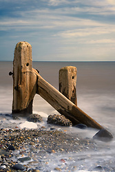 July 21, 2019 - Old Post In Sea, Humberside, England (Credit Image: © John Short/Design Pics via ZUMA Wire)