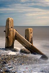 July 21, 2019 - Old Post In Sea, Humberside, England (Credit Image: © John Short/Design Pics via ZUMA Wire)