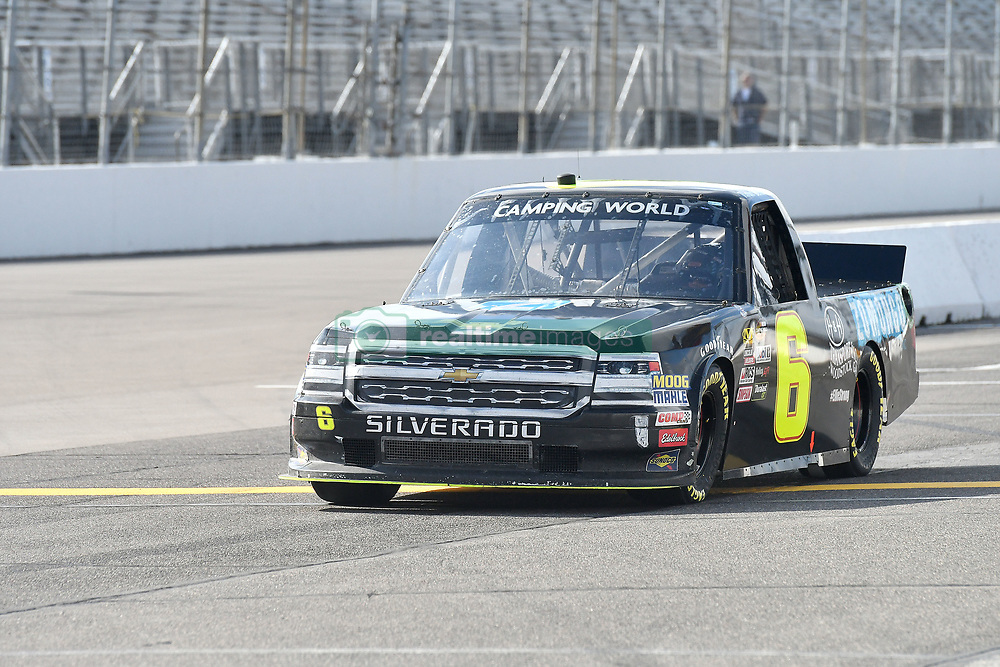June 22, 2018 - Madison, Illinois, U.S. - MADISON, IL - JUNE 22:  Norm Benning (6) driving a Chevrolet for Zomongo and H&H Transport warms up before  the Camping World Truck Series - Eaton 200 on June 22, 2018, at Gateway Motorsports Park, Madison, IL.   (Photo by Keith Gillett/Icon Sportswire) (Credit Image: © Keith Gillett/Icon SMI via ZUMA Press)