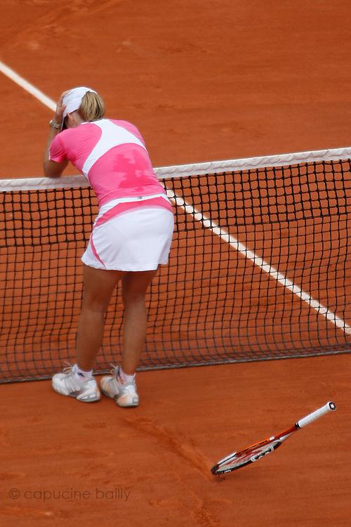 Roland Garros. Paris, France. June 9th 2007..Women's Final..Justine HENIN against Ana IVANOVIC.