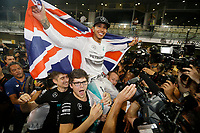 HAMILTON LEWIS (GBR) - MERCEDES GP MGP W05 - AMBIANCE PORTRAIT VICTORY  during the 2014 Formula One World Championship, Abu Dhabi Grand Prix from November 20th to 22nd 2014 in Yas Marina. Photo Jean Michel Le Meur / DPPI.