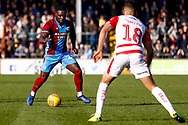 Scunthorpe United forward Olufela Olomola (24) in action  during the EFL Sky Bet League 1 match between Scunthorpe United and Doncaster Rovers at Glanford Park, Scunthorpe, England on 23 February 2019.
