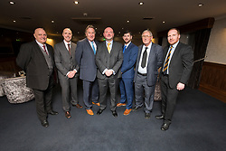 Top table with Dick Campbell, Alan Rough and Brian McGinlay at the Steins Thistle Club sportsmans dinner held on the 11th of March 2017,  at Airth Castle.
