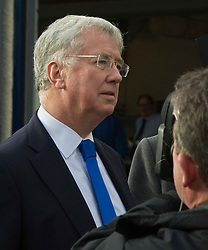 Pictured: Sir Michael Fallon fielded questions on the possibility of Indy 2 following his tour of MacTaggart Scott. <br /> Today Defence Secretary Sir Michael Fallon visited Midlothian engineering firm MacTaggart Scott which designs, builds and installs lightweight, low-noise hydraulic systems used by the British, US, French, Canadian, Australian and South Korean navies.<br /> Ger Harley | EEm 2 February 2017