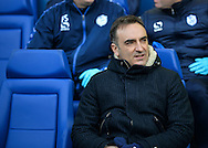 Sheffield Wednesday Manager Carlos Carvalhal during the Sky Bet Championship match between Sheffield Wednesday and Leeds United at Hillsborough, Sheffield, England on 16 January 2016. Photo by Adam Rivers.