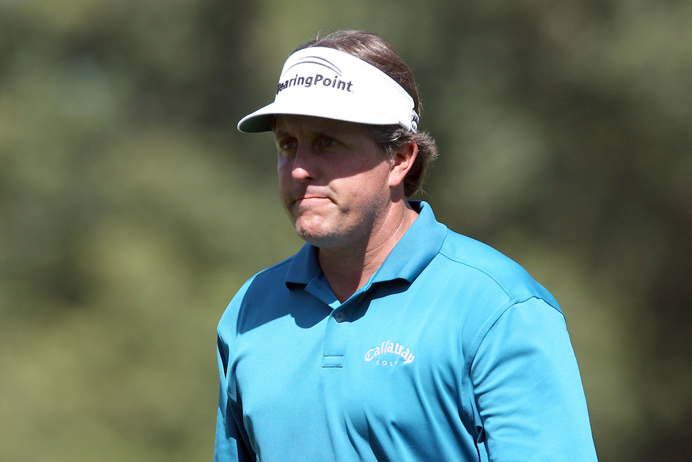 10 August 2007: Phil Mickelson walks the 18th fairway during the second round of the 89th PGA Championship at Southern Hills Country Club in Tulsa, OK.
