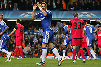 Football - UEFA Champions League - Chelsea vs. KRC Genk<br /> <br /> Chelsea's Fernando Torres cheers the fans after scoring at Stamford Bridge