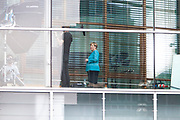 The German Chancellor Angela Merkel is being filmed at the CDU party headquarters in Berlin on, August 11, 2017.<br /> (Photo by Omer Messinger)