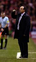 Photo: Jed Wee.<br />Liverpool v Anderlecht. UEFA Champions League.<br />01/11/2005.<br /><br />Liverpool manager Rafael Benitez.