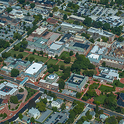aerial view of the University delaware main campus, newark