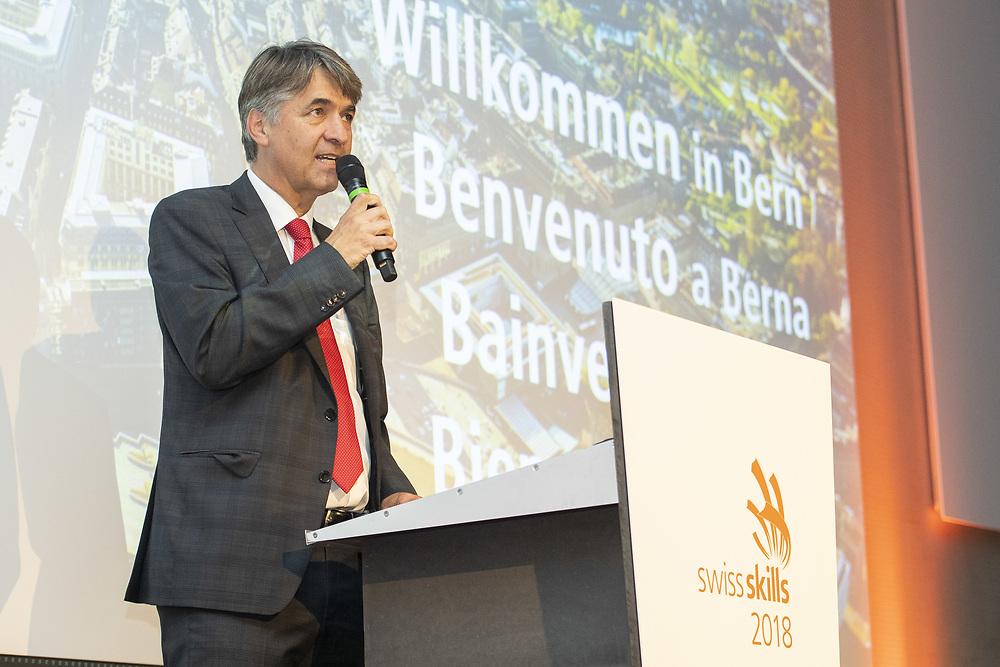 11. September 2018; Bern; swiss skills 2018  - Alec von Graffenried, Stadtpraesident von Bern spricht anlaesslich des Empfangs zu den Gaesten (Michael Zanghellini)