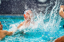 Jorn Winkelhorst of the Netherlands in action against of France during the Olympic qualifying tournament. The Dutch water polo players are on the hunt for a starting ticket for the Olympic Games on February 17, 2021 in Rotterdam
