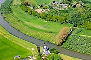 Nederland, Gelderland, Gemeente Geldermalsen, 27-05-2013; Norbertijnerabdij van Marienweerd, klooster en landgoed. Riviertje De  Linge (tussen Beesd en Tricht).<br /> Monastery, abbey and estate (Central Holland). River LInge.<br /> luchtfoto (toeslag op standard tarieven)<br /> aerial photo (additional fee required)<br /> copyright foto/photo Siebe Swart