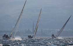 Largs Regatta Week 2015, hosted by Largs Sailing Club and Fairlie Yacht Club<br /> <br /> Class one boats heading into the Largs Channelincluding Sloop John T, Prime Suspect and Roxstar<br /> <br /> Credit Marc Turner
