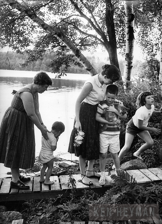 Margaret Mead with daughter and grandchildren.