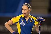 "Glasgow. SCOTLAND.  Sweden's, Agnes KNOCKENHAUER, ""Round Robin"" Games. Le Gruyère European Curling Championships. 2016 Venue, Braehead  Scotland<br /> Monday  21/11/2016<br /> <br /> [Mandatory Credit; Peter Spurrier/Intersport-images]"