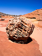 Scene from the North Coyote Buttes, Vermillion Cliffs National Monument, Arizona, known for its beautiful rock formations.