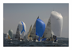 Bell Lawrie Scottish Series 2008. Fine North Easterly winds brought perfect racing conditions in this years event..GBR 1433R Salamander XX, IRL3550 Exaltation and IRL33333 Contango class 2