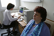 Chernobyl, Gomel Belarus. Radiation check up and scanning. Working with families evacuated from the exclusion zone. Radiation sickness and general health. Hospital and clinic. Republican Research Centre of Radiation, Medicine  and Human Ecology. Set up after the Chernobyl disaster.