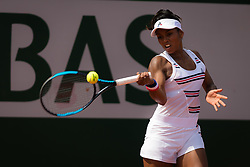 May 22, 2019 - Paris, France - Tessah Andrianjafitrimo of France in action during the first qualifications round at the 2019 Roland Garros Grand Slam tennis tournament (Credit Image: © AFP7 via ZUMA Wire)