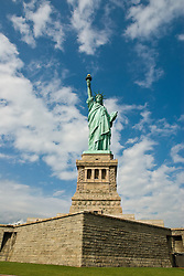 Liberty Enlightening the World, commonly known as the Statue of Liberty, was presented to the United States by the people of France in 1886. Standing on Liberty Island in New York Harbor.