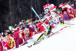 "29.01.2019, Planai, Schladming, AUT, FIS Weltcup Ski Alpin, Slalom, Herren, 1. Lauf, im Bild Alexis Pinturault (FRA) // Alexis Pinturault of France in action during his 1st run of men's Slalom ""the Nightrace"" of FIS ski alpine world cup at the Planai in Schladming, Austria on 2019/01/29. EXPA Pictures © 2019, PhotoCredit: EXPA/ JFK"