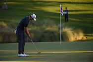 Patrick Cantlay (USA) watches his putt on 18 during Rd4 of the 2020 Shriner's Hospital for Children Open, TPC Summerlin, Las Vegas, NV. 10/11/2020.<br /> Picture: Golffile | Ken Murray<br /> <br /> <br /> All photo usage must carry mandatory copyright credit (© Golffile | Ken Murray)