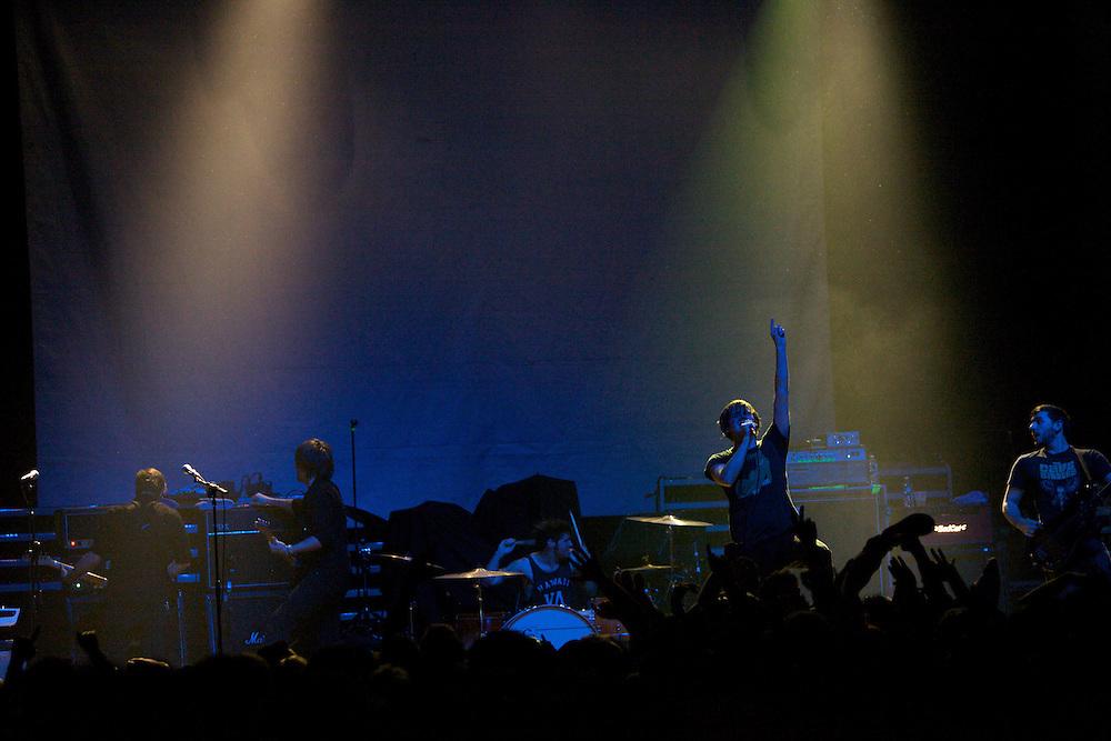The New Brunswick band Thursday performs at Terminal 5 in Manhattan, Thursday, February 17, 2011. (Photo/Claudio Papapietro)