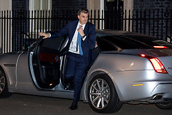 © Licensed to London News Pictures. 07/01/2019. London, UK. Chief Whip Julian Smith leaving 10 Downing Street after attending a drinks reception in Number 10. British Prime Minister Theresa May is currently trying to persuade MPs to back her Brexit withdrawal deal. MPs will be debating the issue this week, with the postponed vote taking place on Tuesday 15th January. Photo credit : Tom Nicholson/LNP