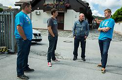 Mitja Kunc, Tomi Trbovc, Goran Janus and Klemen Bergant at departure of Slovenian Men Ski Team to training camp in Argentina and Chile on August 21, 2014 in SZS, Ljubljana, Slovenia. Photo by Vid Ponikvar / Sportida.com