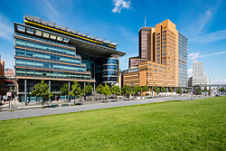 DaimlerChrysler office buildings on Linkstrasse at  Potsdamer Platz Square, Berlin, Germany,