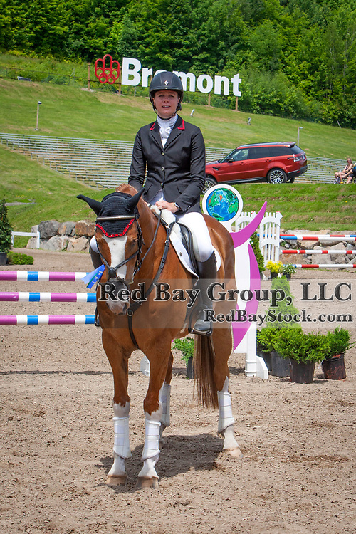 Caroline Martin (USA) and Pebbly Maximus at the 2014 Jaguar Land Rover Bromont International Three Day Event in Bromont, Quebec.