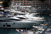 May 21, 2014: Monaco Grand Prix: Yachts in the harbor