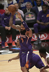 December 20, 2017 - Los Angeles, California, U.S - Tyson Chandler #4 of the Phoenix Suns  rebounds during their NBA game with the Los Angeles Clippers  on Wednesday December 20, 2017 at the Staples Center in Los Angeles, California. Clippers vs Suns. (Credit Image: © Prensa Internacional via ZUMA Wire)