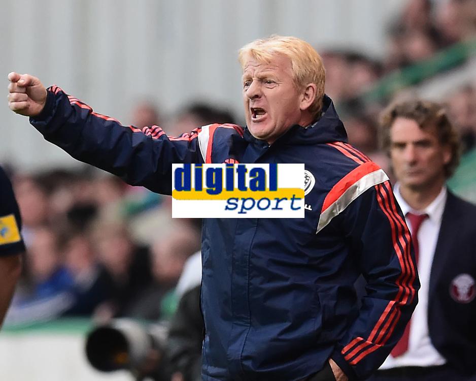 05/06/15 INTERNATIONAL CHALLENGE MATCH<br /> SCOTLAND v QATAR<br /> EASTER ROAD STADIUM - EDINBURGH<br /> Scotland manager Gordon Strachan