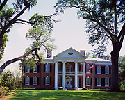 Auburn, mansion of red brick built by architect Levi Weeks for Judge Lyman G. Harding in 1812.  Now a National Historic Landmark operated by the Auburn Garden Club, Natchez, Mississippi.