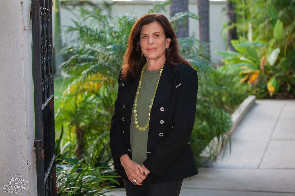 Mia Lehrer founder and President of the landscape architectural firm Mia Lehrer+Associates.. Raphael Sbarge films FoLAR documentary at LA River Center, Los Angeles, California, USA