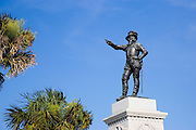 Ponce de Leon statue, St. Augustine, Florida, USA<br />