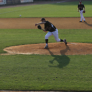 Pitcher Jason Wheeler, New Britain Rock Cats, in action during the New Britain Rock Cats Vs Binghamton Mets Minor League Baseball game at New Britain Stadium, New Britain, Connecticut, USA. 2nd July 2014. Photo Tim Clayton