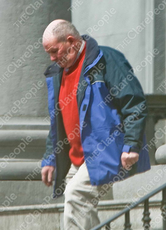 James Kennedy of Carrowduff, Kilshanny leaving Ennis courthouse yesterday where he was bringing a slander action against Eileen Kierse after she claimed that he sexually assaulted her in her home. NO BYLINE PLEASE (Journalist Gordon Deegan is sending Copy)