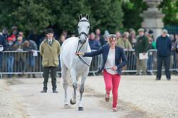 Harris Flora, (GBR), Amazing VIII<br /> First Horse Inspection - Mitsubishi Motors Badminton Horse Trials <br /> Badminton 2015