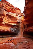 Indian Creek Waterfalls, Meander Canyon section of the Colorado River in Canyonlands National Park, Utah, USA.