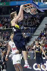 03.12.2015, Palacio de los Deportes, Madrid, ESP, FIBA, EL, Real Madrid vs Fenerbahce Ulker Istanbul, Halbfinale, im Bild Fenerbahce Istambul's Jan Vesely // during thesemifinall Match of the Turkish Airlines Basketball Euroleague between Real Madrid and Fenerbahce Ulker Istanbul at the Palacio de los Deportes in Madrid, Spain on 2015/12/03. EXPA Pictures © 2015, PhotoCredit: EXPA/ Alterphotos/ Acero<br /> <br /> *****ATTENTION - OUT of ESP, SUI*****