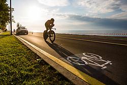 Jan Tratnik competing Slovenia Road Cycling Championship Time Trial 202, on June 17, 2021 in Koper, Slovenia. Photo by Grega Valancic / Sportida.