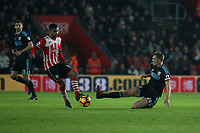 Football - 2016 / 2017 Premier League - Southampton vs. West Bromwich Albion<br /> <br /> Darren Fletcher of West Bromwich Albion slides in to block Southampton's Sofiane Boufal at St Mary's Stadium Southampton England<br /> <br /> COLORSPORT/SHAUN BOGGUST