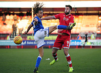 Football - 2018 / 2019 Sky Bet EFL League Two - Crawley Town vs. Macclesfield<br /> <br /> Myles Welch - Hayes of  Macclesfield and Ollie Palmer of Crawley, at The Peoples Pension Stadium (Broadfield Stadium).<br /> <br /> COLORSPORT/ANDREW COWIE