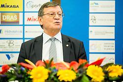 Aleksandar Boricic, president of CEV during press conference of Slovenian Volleyball Federation before FIVB Volleyball World League tournament in Ljubljana, on May 5, 2016 in Hotel Spik, Gozd Martuljek, Slovenia. Photo by Vid Ponikvar / Sportida