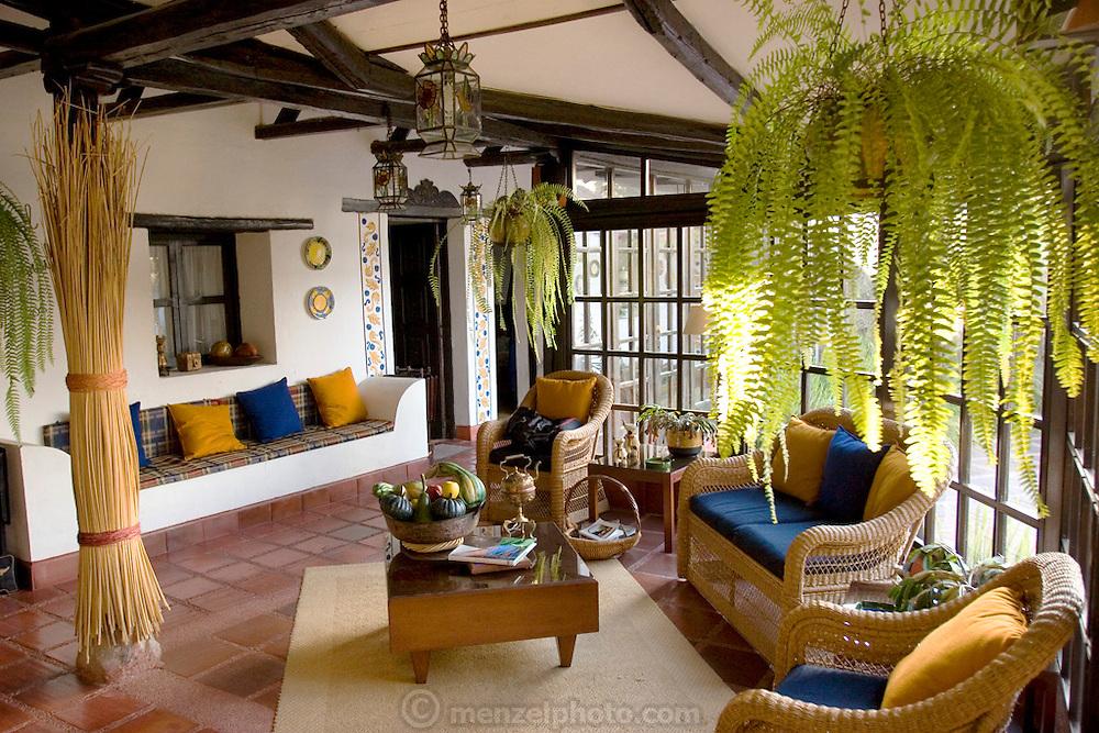 Interior of Pablo Corral Vega's farm house two hours outside Quito, Ecuador.